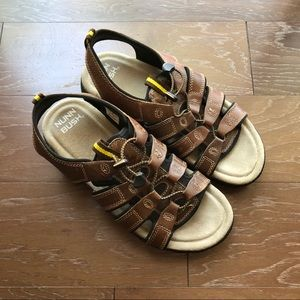 Nunn bush men's sandals leather brown Sz 10